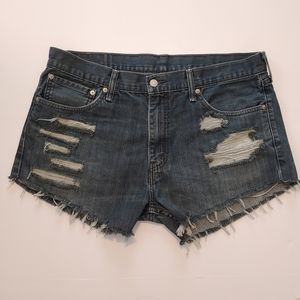 Levi's High Rise Cut Off Jean Shorts